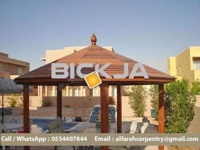 Wooden Gazebo in Abu Dhabi | Garden Gazebo | Gazebo Suppliers in Dubai - 1/4