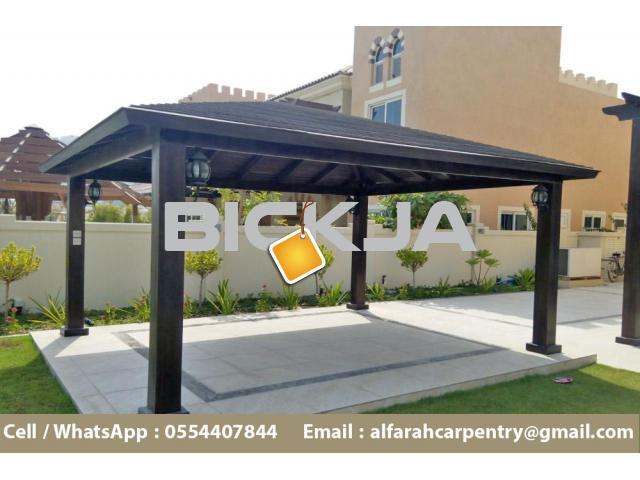 Wooden Gazebo in Abu Dhabi | Garden Gazebo | Gazebo Suppliers in Dubai - 3/4