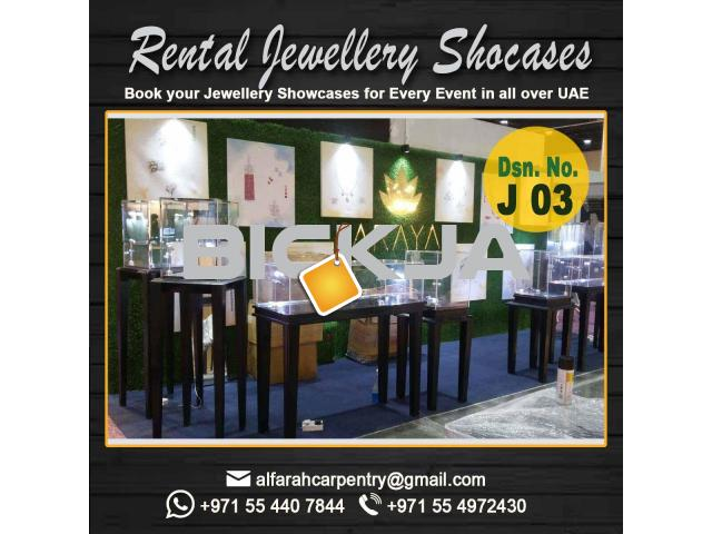 Rental Display Stand Dubai | Wooden Display Stands | Jewelry Showcase Dubai - 1/4