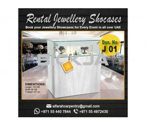 Rental Display Stand Dubai | Wooden Display Stands | Jewelry Showcase Dubai