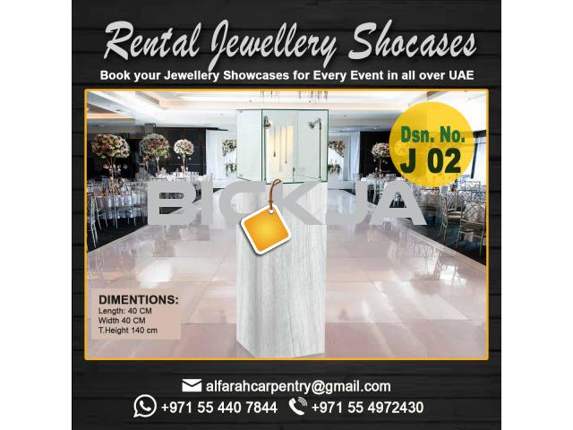 Rental Display Stand Dubai | Wooden Display Stands | Jewelry Showcase Dubai - 3/4
