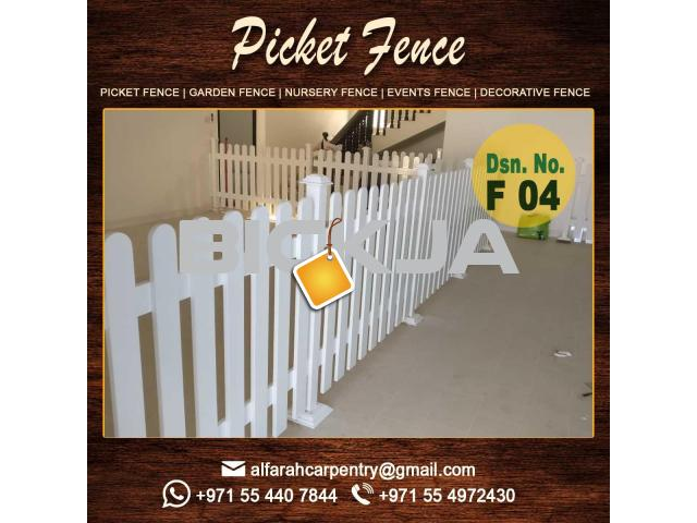 Wooden fencing Suppliers | Picket Fence in Dubai | Garden Privacy fence Dubai - 1/4