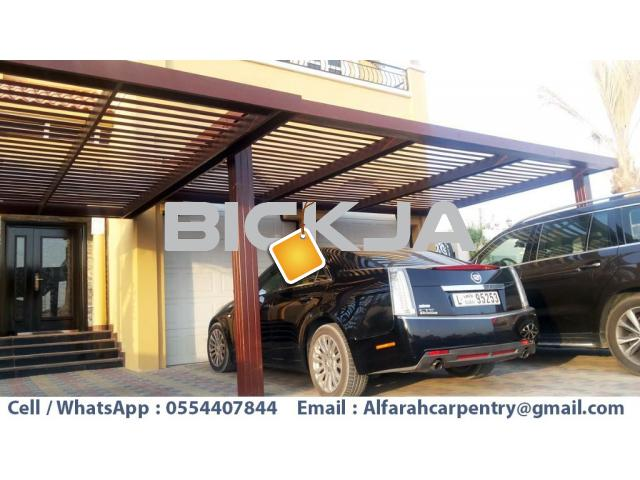 Car Parking Pergola Dubai | Wooden Parking Shades | Wooden car parking Shades Dubai - 2/4