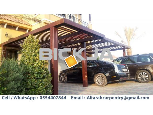 Car Parking Pergola Dubai | Wooden Parking Shades | Wooden car parking Shades Dubai - 4/4