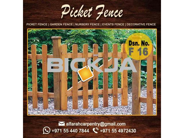 Free Stand Wooden Fence Dubai | Garden Fencing And Gates Dubai | Picket fence - 1/4