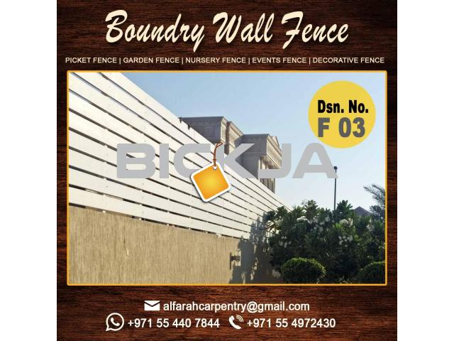 Free Stand Wooden Fence Dubai | Garden Fencing And Gates Dubai | Picket fence - 3/4
