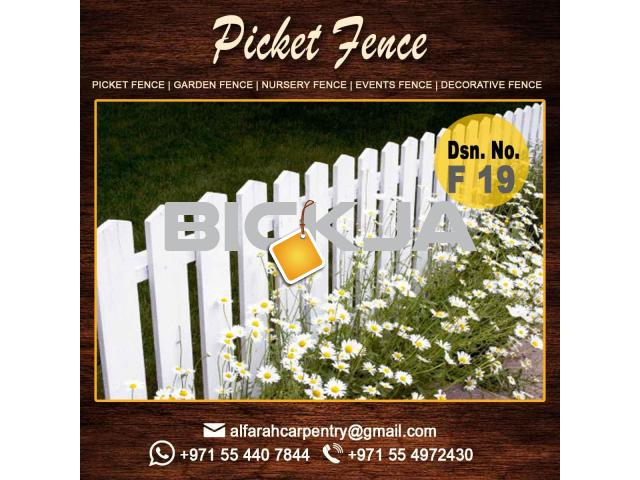 Free Stand Wooden Fence Dubai | Garden Fencing And Gates Dubai | Picket fence - 4/4