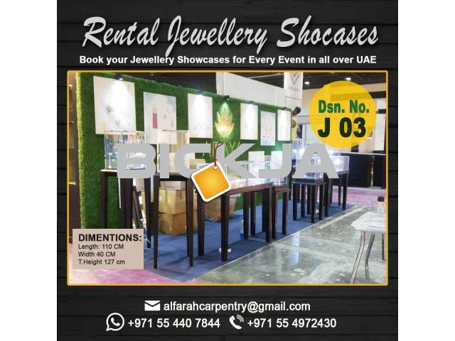 Jewelry Showcase Dubai | Rental Display Stand | Display Stand And Kiosk Dubai - 1/3