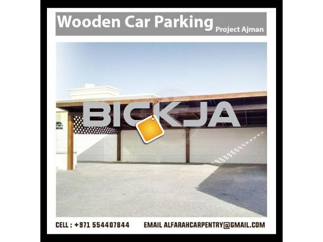 Wooden Car Parking Shades Dubai | Car Parking Pergola Dubai |Car Parking Shades Suppliers - 1/4