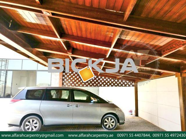 Wooden Car Parking Shades Dubai | Car Parking Pergola Dubai |Car Parking Shades Suppliers - 4/4