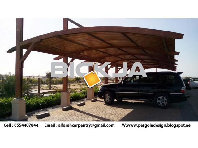 Wooden car Parking Shades Dubai | Wooden Walkway Shades | Wooden Sun Shades Dubai - 2/3