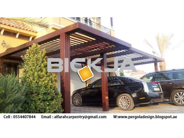 Wooden car Parking Shades Dubai | Wooden Walkway Shades | Wooden Sun Shades Dubai - 3/3