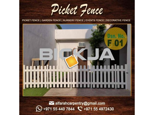 Kids Privacy Fence | Picket fence | Dubai Events Fence | Wooden Fence Suppliers UAE - 1/4