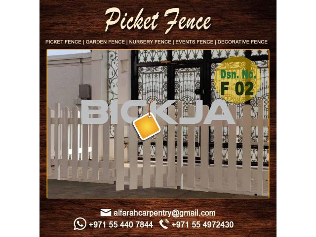 Kids Privacy Fence | Picket fence | Dubai Events Fence | Wooden Fence Suppliers UAE - 3/4