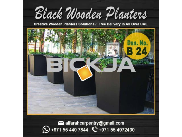 Wooden Planters Manufacturing in Dubai | Garden Planters | outdoor Planters UAE - 1/4
