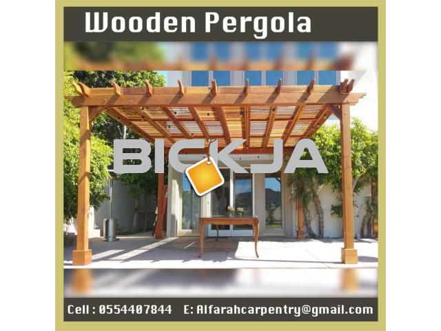 Balcony Attached Pergola Dubai | Patio Pergola Dubai | Wooden Pergola Suppliers Dubai - 1/4