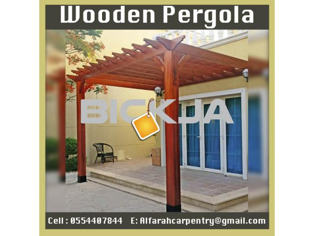 Balcony Attached Pergola Dubai | Patio Pergola Dubai | Wooden Pergola Suppliers Dubai - 3/4
