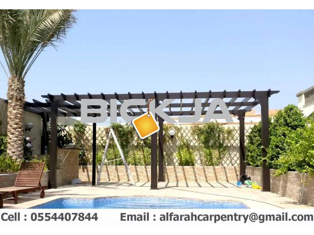 Balcony Attached Pergola Dubai | Patio Pergola Dubai | Wooden Pergola Suppliers Dubai - 4/4