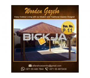 Wooden Gazebo Dubai | Gazebo With Decking | Gazebo With Benches Abu Dhabi