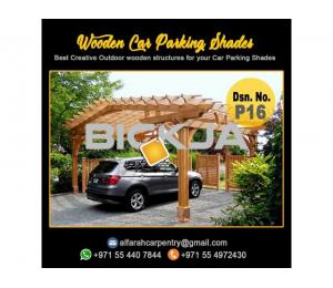 Wooden Car Parking Shades Dubai | Car Parking Pergola Dubai | Wooden Sun Shades Dubai