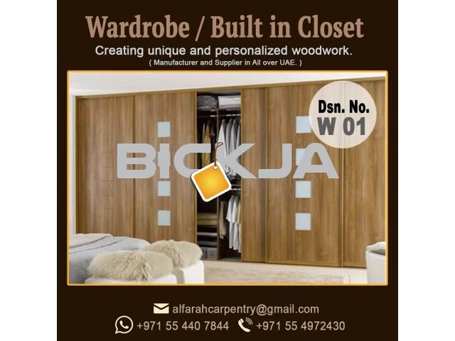 Walk in Closet Manufacturer in Dubai | Carpentry Shop in Dubai | Wooden Wardrobes Dubai - 1/4