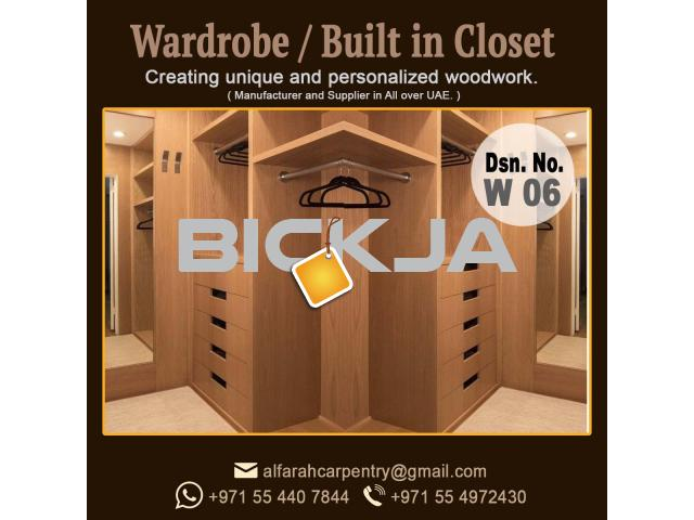 Walk in Closet Manufacturer in Dubai | Carpentry Shop in Dubai | Wooden Wardrobes Dubai - 2/4