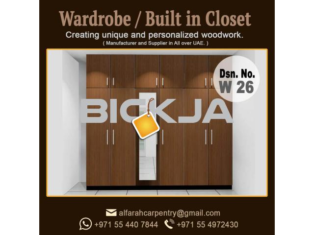 Walk in Closet Manufacturer in Dubai | Carpentry Shop in Dubai | Wooden Wardrobes Dubai - 4/4