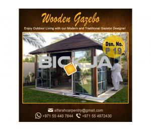 Wooden Gazebo Abu Dhabi | Gazebo Suppliers | Gazebo With Benches Dubai