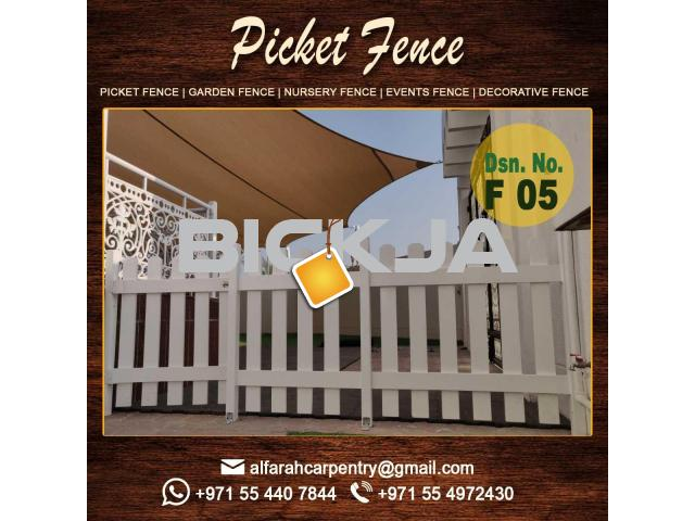 Kids Play Area Fence in Dubai |Picket Fence Dubai | Wooden Fence Suppliers Dubai - 1/3