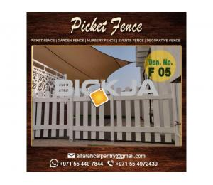 Kids Play Area Fence in Dubai |Picket Fence Dubai | Wooden Fence Suppliers Dubai