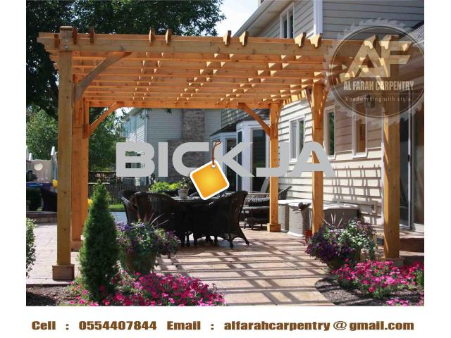 Manufacturer And Install Wooden Pergola in Dubai | Pergola Abu Dhabi | Pergola Suppliers UAE - 3/4