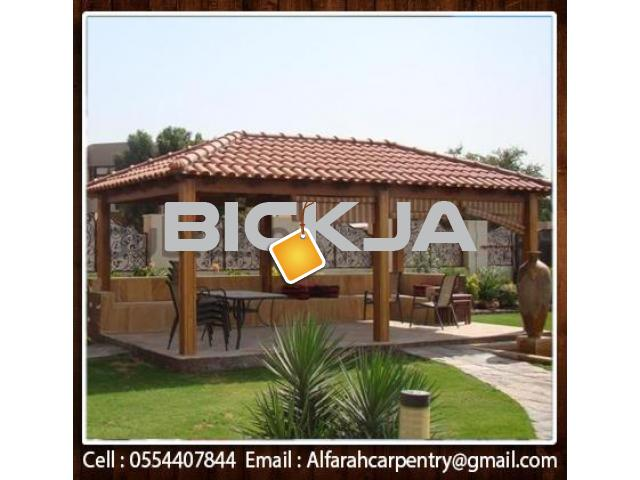 Hexagonal Wooden Gazebo Dubai | Garden Gazebo Abu Dhabi | Gazebo Suppliers - 1/4