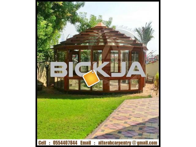 Hexagonal Wooden Gazebo Dubai | Garden Gazebo Abu Dhabi | Gazebo Suppliers - 3/4