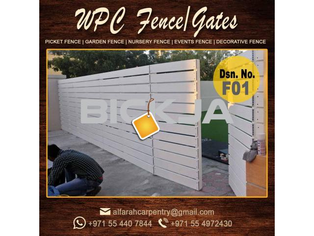 Horizontal Wooden Fence Dubai | Kids Play Area Fence Dubai| Vertical Wooden fence - 1/4