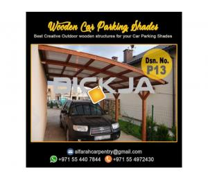 Wooden Car Parking Shades Abu Dhabi | Car Parking Pergola | Wooden Walkway Shades Abu Dhabi