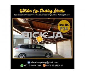 Wooden Car Parking Shades | Car Parking Pergola Abu Dhabi | Car Parking Wooden Shades Dubai