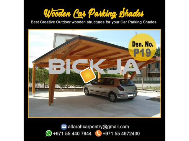 Wooden Car Parking Shades | Car Parking Pergola Abu Dhabi | Car Parking Wooden Shades Dubai - 2/4