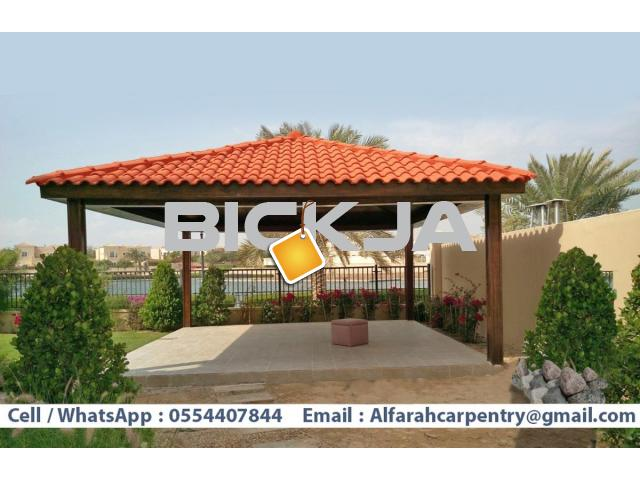 Garden Gazebo Abu Dhabi | Wooden Gazebo Suppliers | Outdoor Gazebo Dubai - 1/4