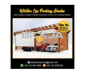 Car Parking Wooden Shades Dubai | Car Parking Wooden Pergola | Wooden Car Parking Abu Dhabi