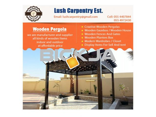 Pergola Sell in Dubai | Wooden Pergola Suppliers | Pergola Manufacturer Abu Dhabi - 1/4