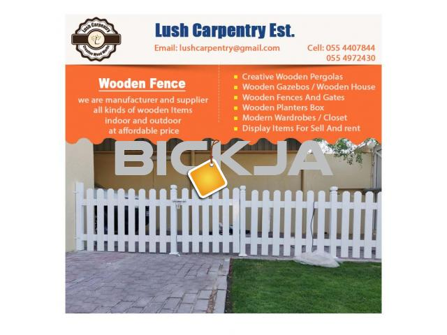 Wooden Fencing Dubai | Garden Fences Dubai | Picket fence in Dubai | Fence Suppliers Dubai - 1/4