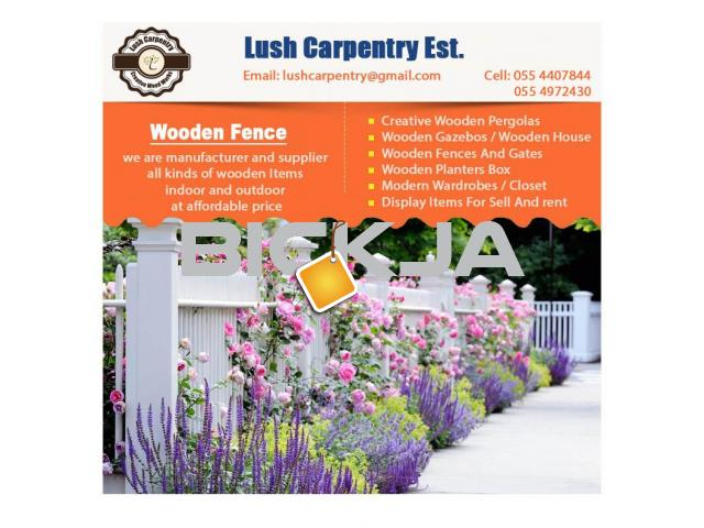 Wooden Fencing Dubai | Garden Fences Dubai | Picket fence in Dubai | Fence Suppliers Dubai - 3/4