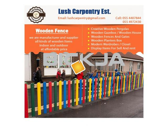 Wooden Fencing Dubai | Garden Fences Dubai | Picket fence in Dubai | Fence Suppliers Dubai - 4/4