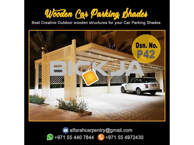 Wooden Car Parking Shades Dubai | Car Parking Shades Dubai | Car Parking Pergola Dubai - 3/3