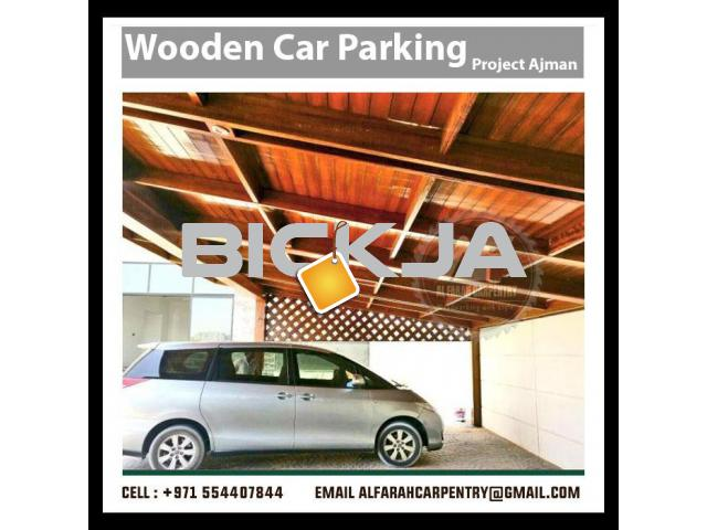 Wooden Car Parking Shades Dubai | Car Parking Pergola Dubai | Wooden Walkway Shades Dubai - 2/3