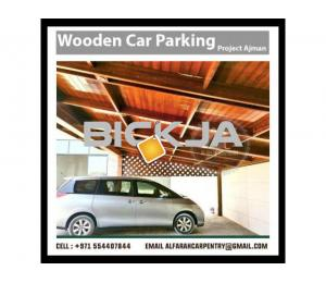 Wooden Car Parking Shades Dubai | Car Parking Pergola Dubai | Wooden Walkway Shades Dubai