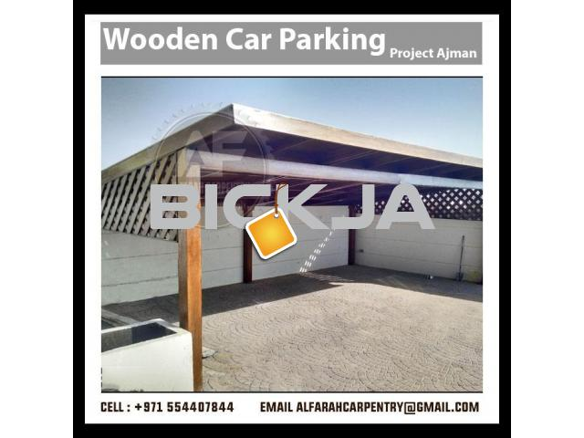 Wooden Car Parking Shades Dubai | Car Parking Pergola Dubai | Wooden Walkway Shades Dubai - 3/3