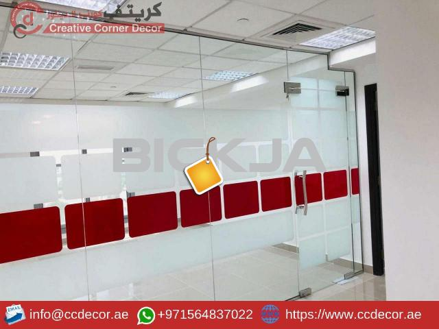 Glass Partitions and Wooden Partitions Works Abu Dhabi. - 1/4