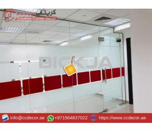 Glass Partitions and Wooden Partitions Works Abu Dhabi.