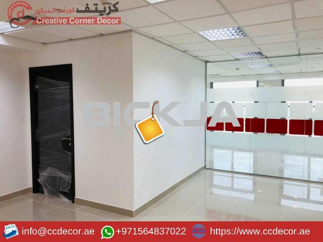 Glass Partitions and Wooden Partitions Works Abu Dhabi. - 2/4
